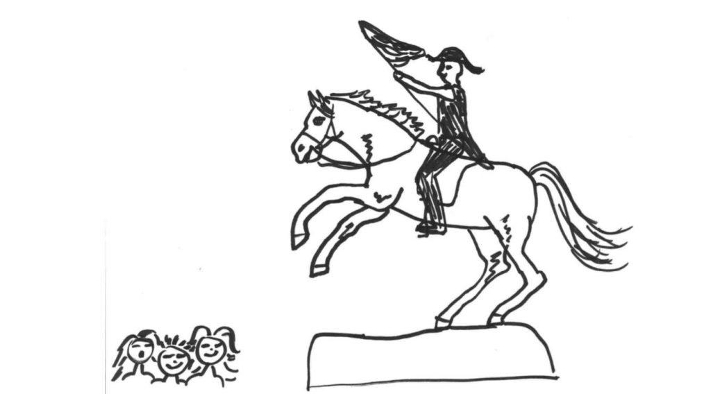 Erzherzog Karl am Pferd